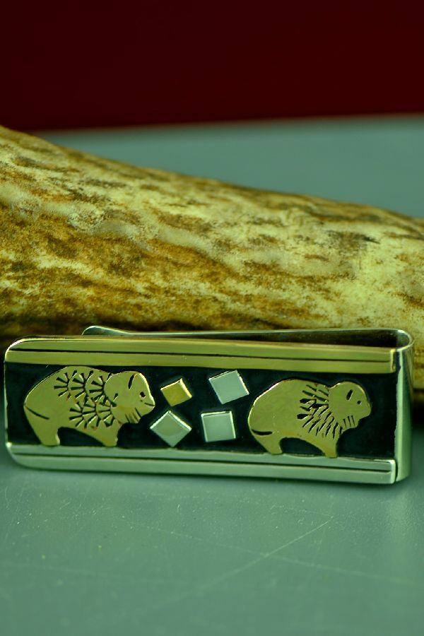 Buffalo Money Clips Navajo