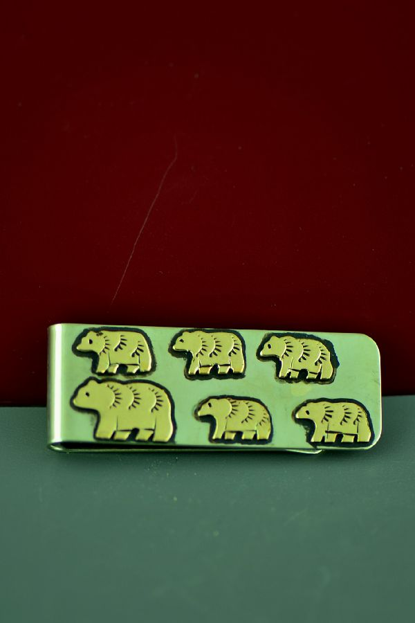 Rosita Singer Gold and Silver Bear Money Clip
