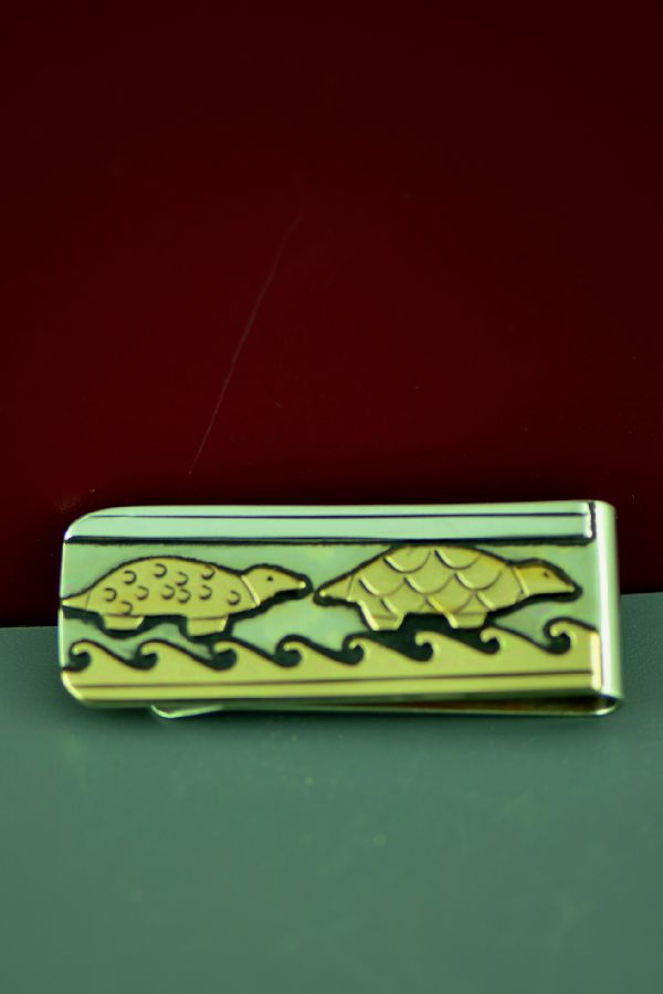 Native American Turtle Jewelry Money Clip