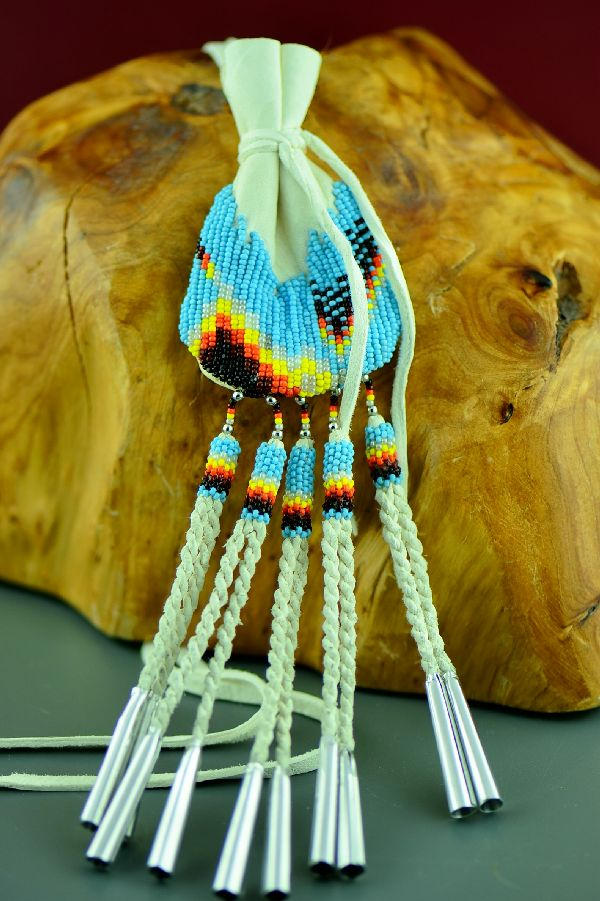 Native American Beaded Medicine Pouch