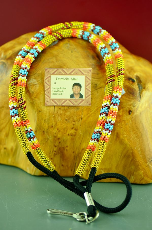 Authentic American Indian Beaded Lan