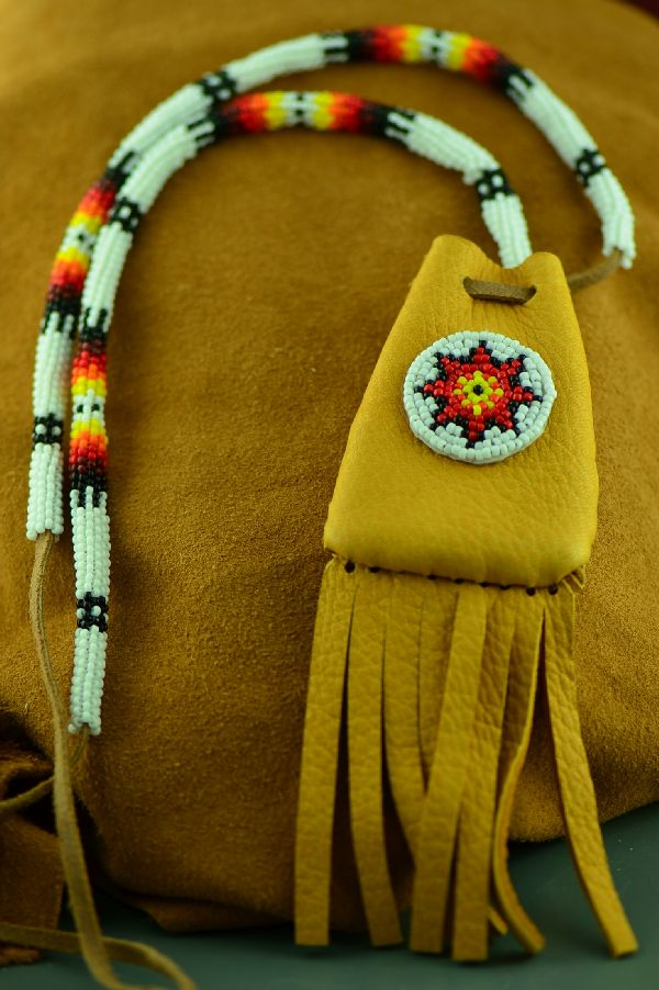 White Mountain Apache Beaded Medicine Pouch