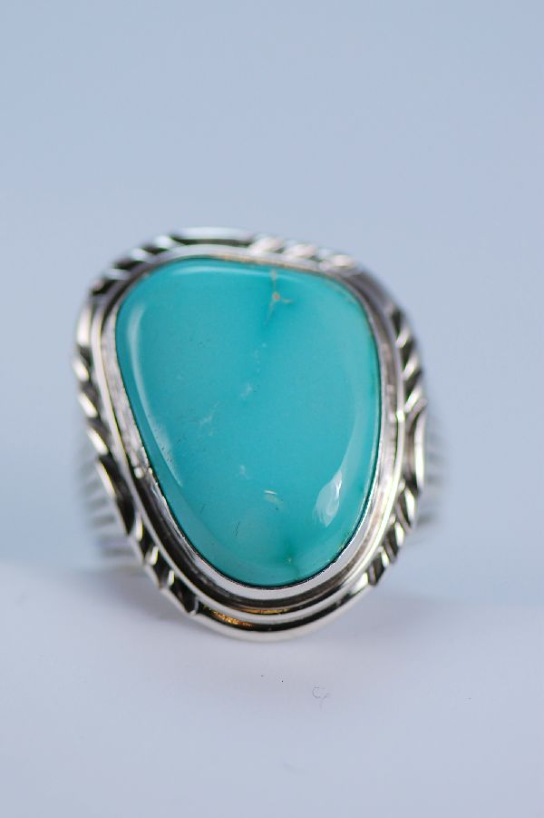 Turquoise Sterling Silver Mans Ring