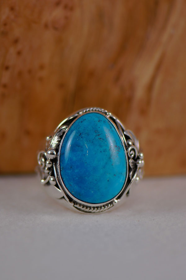 Navajo Turquoise Mountain Turquoise Large Ring