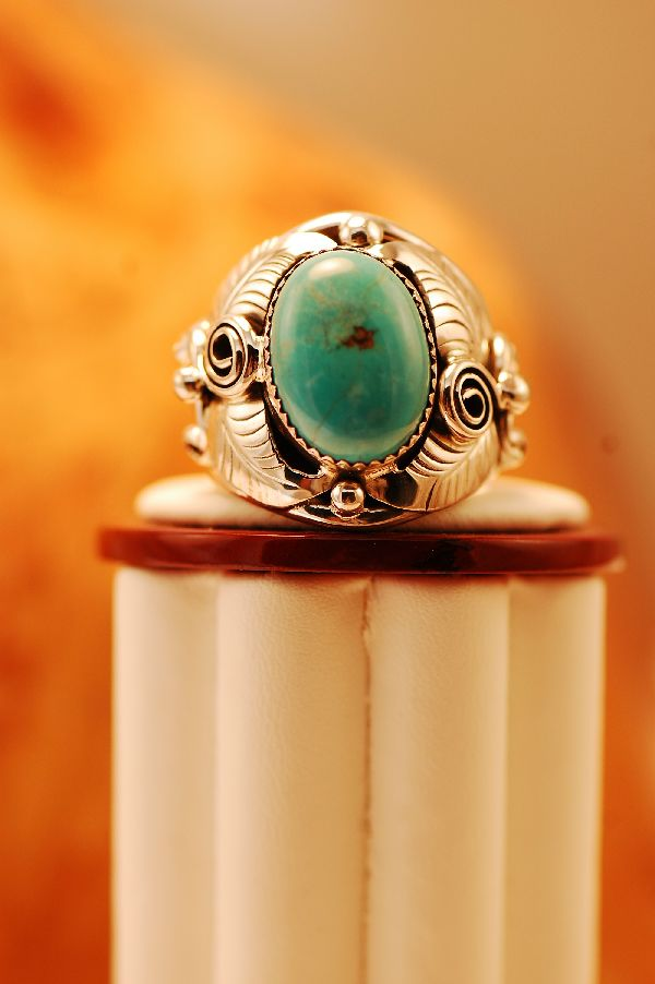 Blue Gem Turquoise Silver Ring