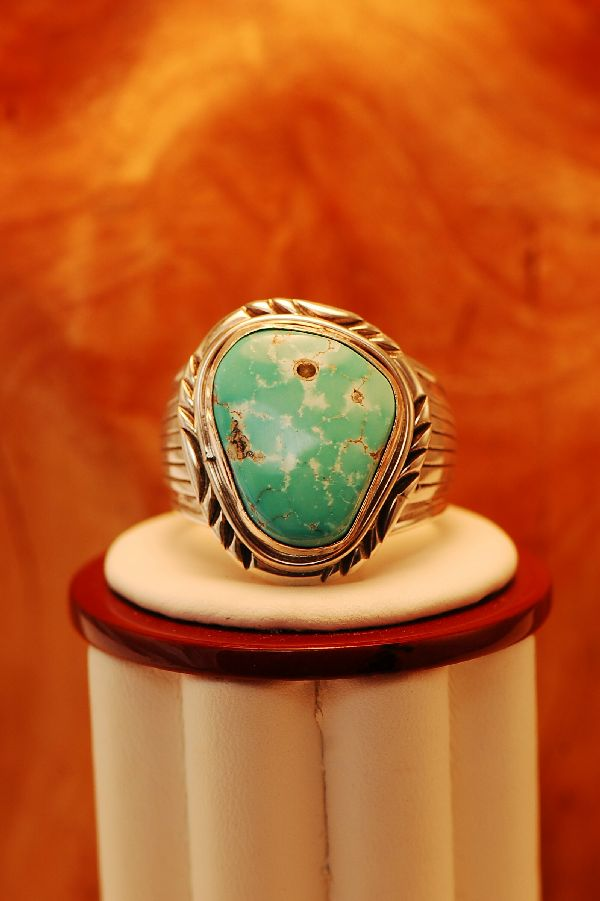 Mans Size 14 Turquoise Ring