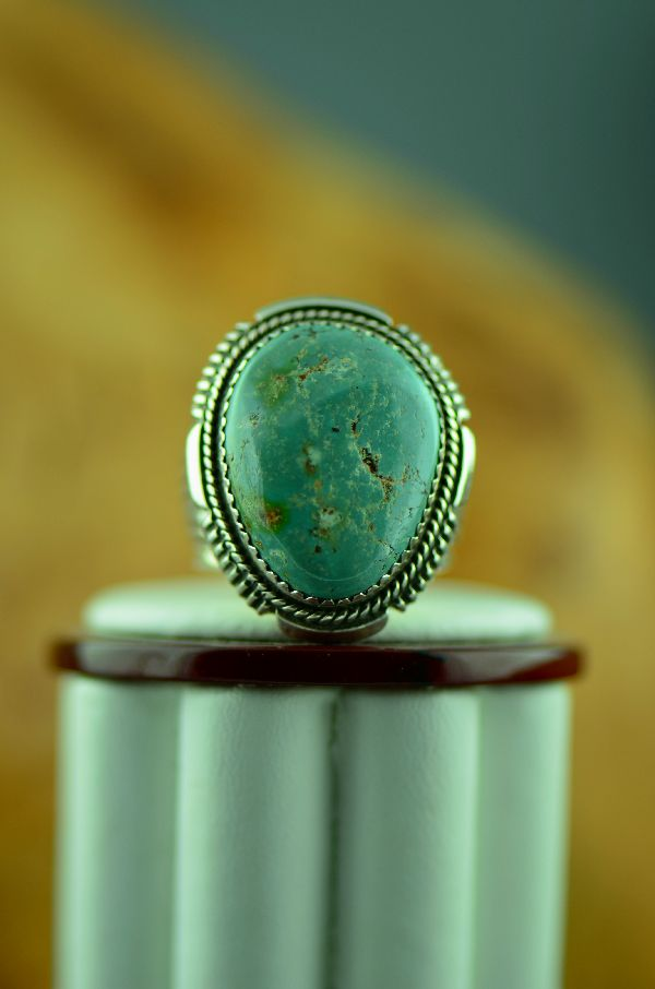 Native American Fox Turquoise Ring