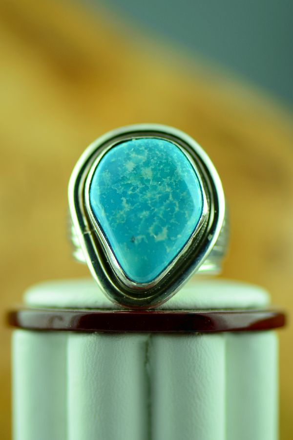 Natural Fox Turquoise Ring Size 12