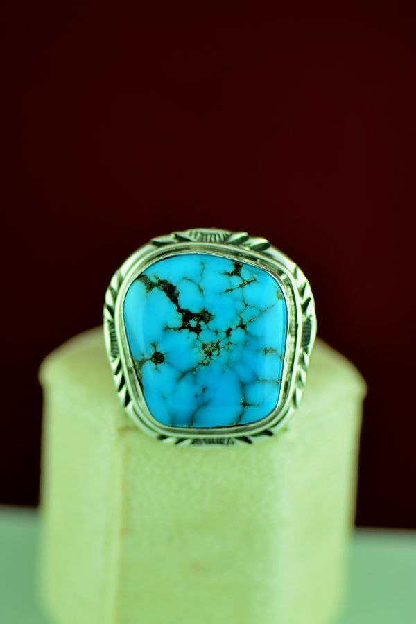 American Indian Mans Turquoise Ring