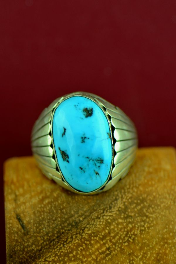 Navajo Mary Ann Spencer Turquoise Ring
