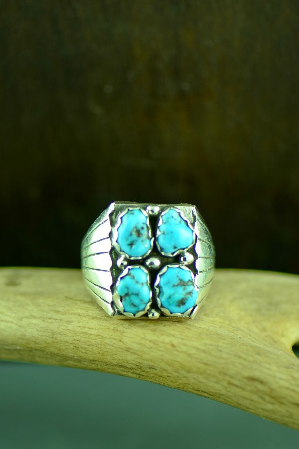 Brenda Etsitty Sleeping Beauty Turquoise Ring
