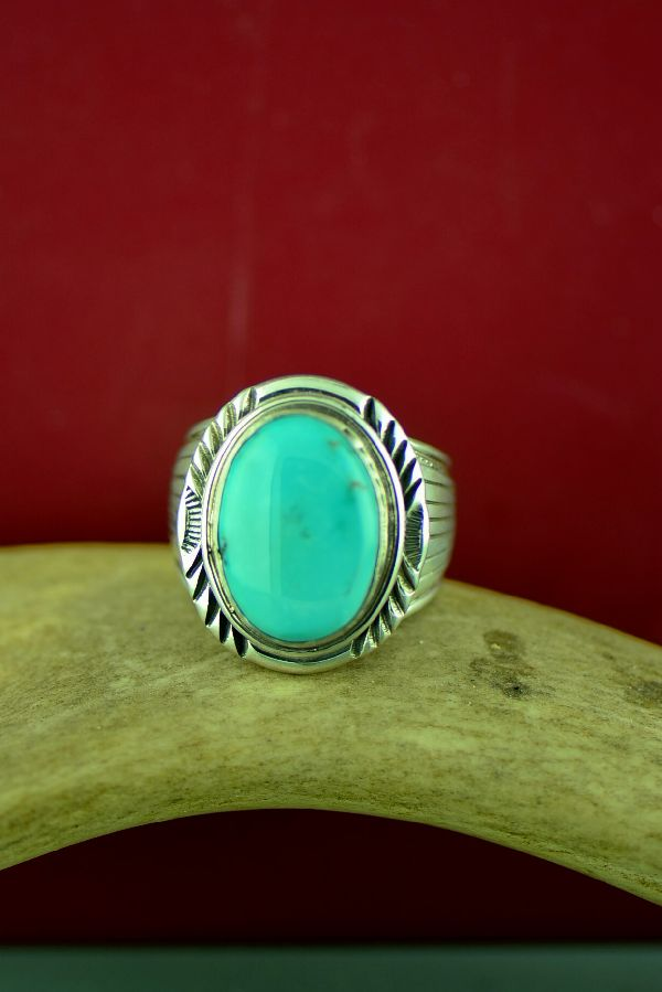 Will Denetdale Blue Moon Turquoise Ring