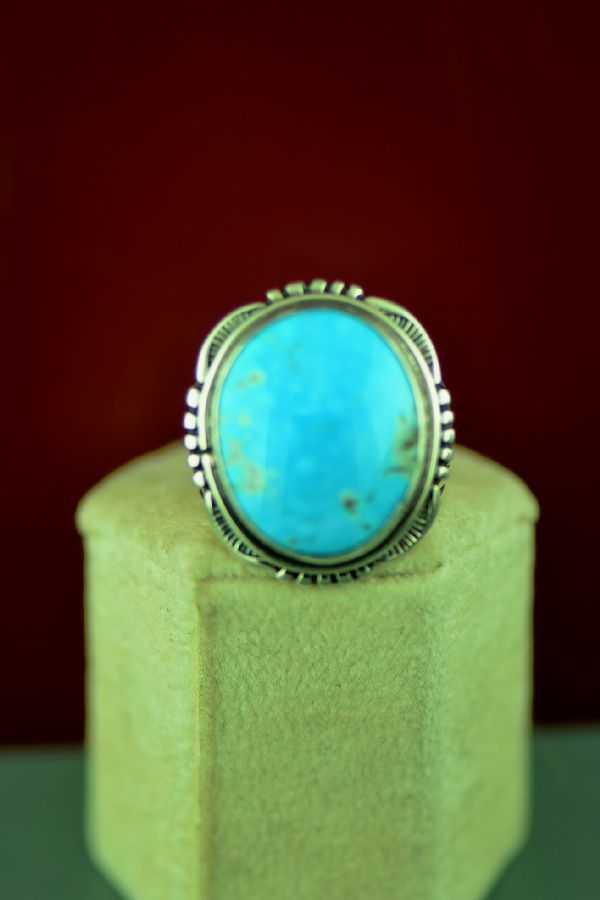 Native American Blue Gem Turquoise Ring