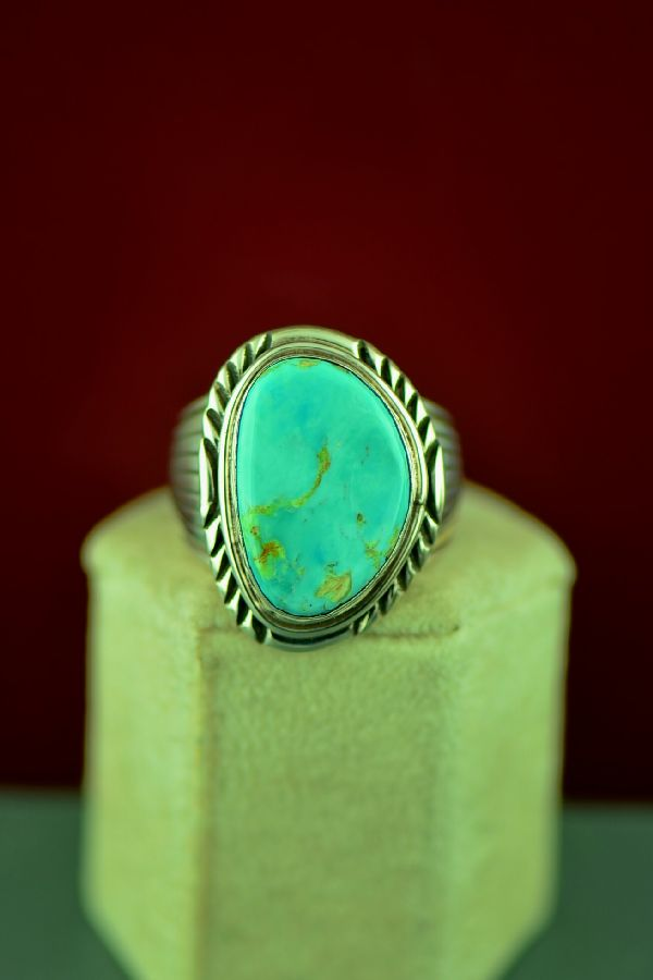 American Indian Mans Royston Turquoise Ring
