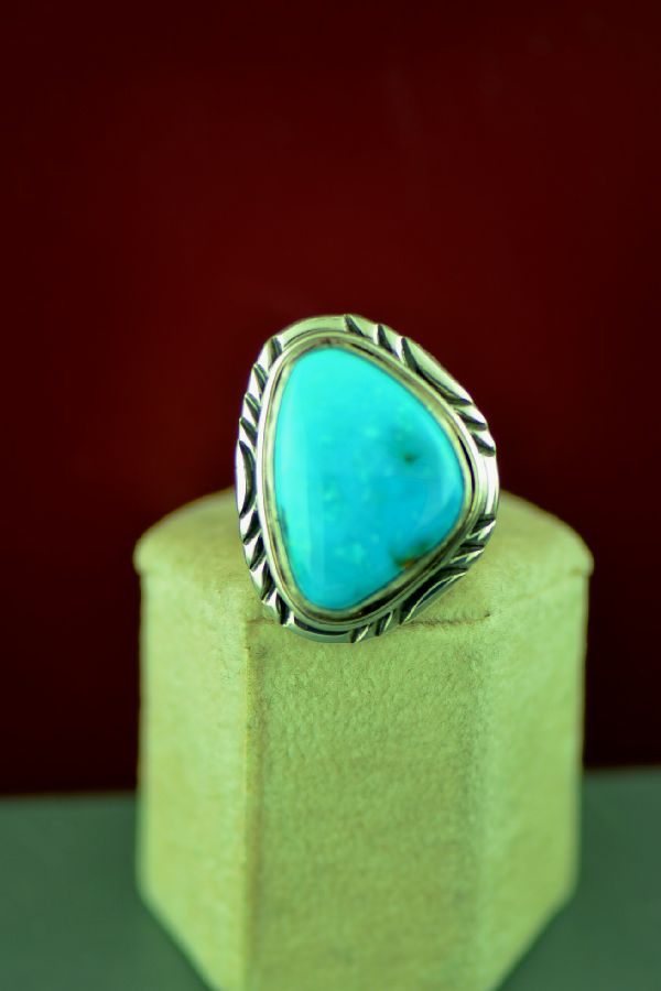 Navajo Turquoise Ring Size 10