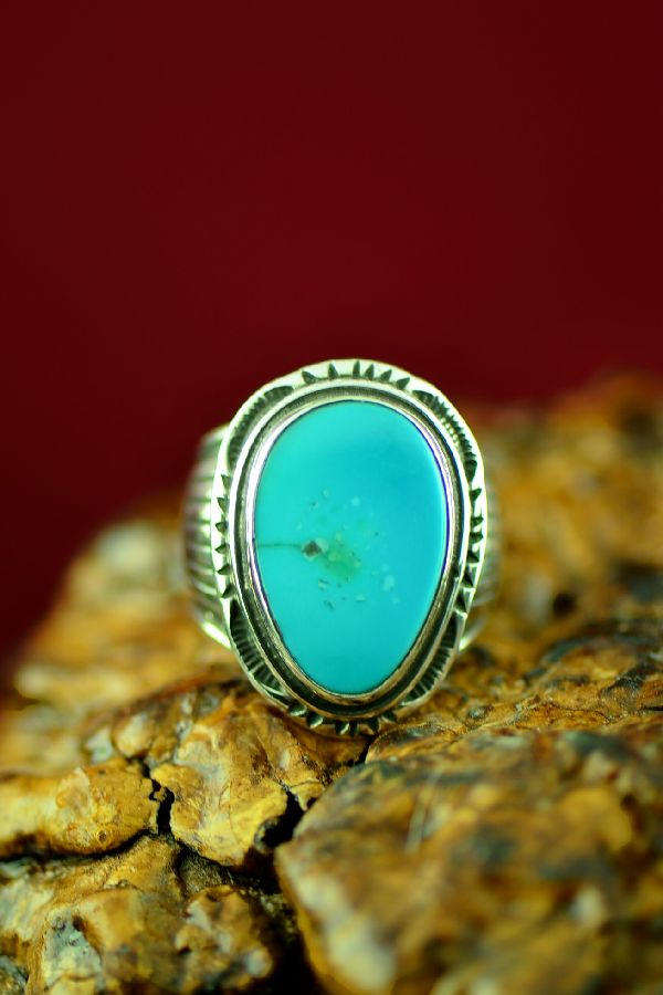 Will Denetdale Royston Turquoise Ring Size 9