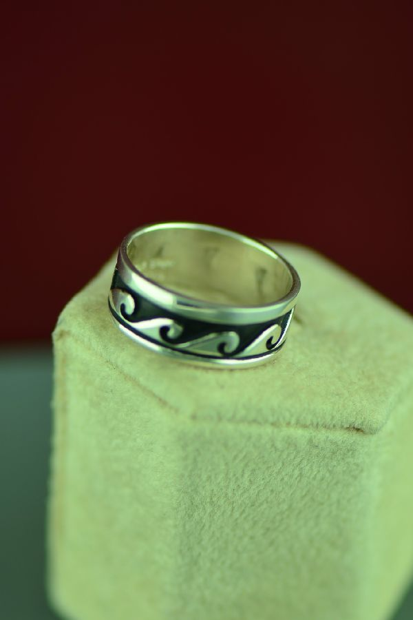 American Indian Sterling Water Ring