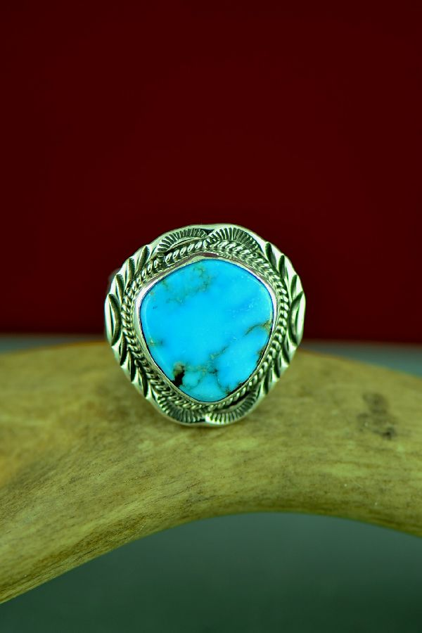 Blue Gem Turquoise Ring Will Denetdale
