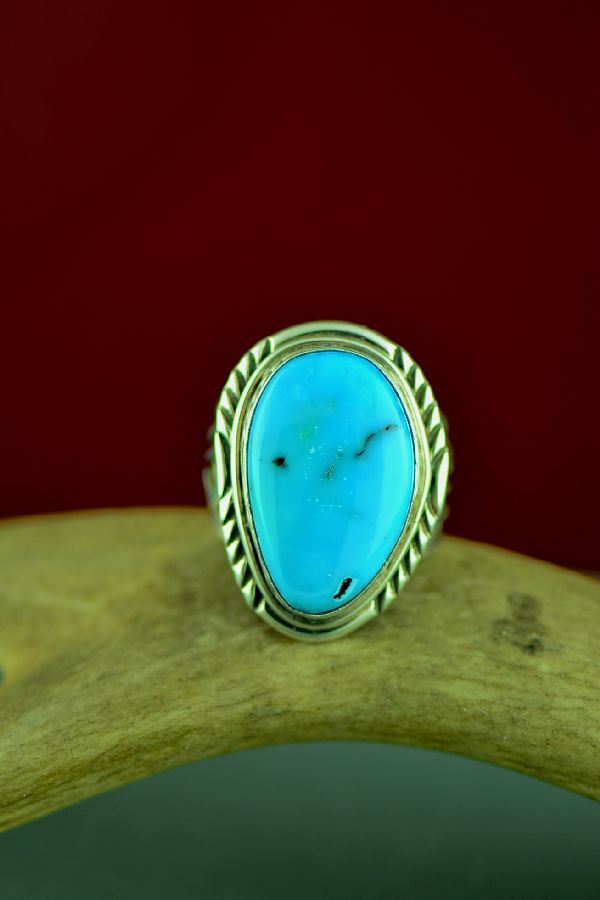 Mans Turquoise Native American Ring