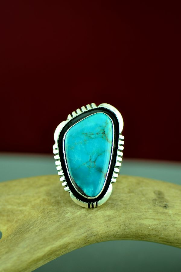 Will Denetdale Bisbee Turquoise Ring Size 9