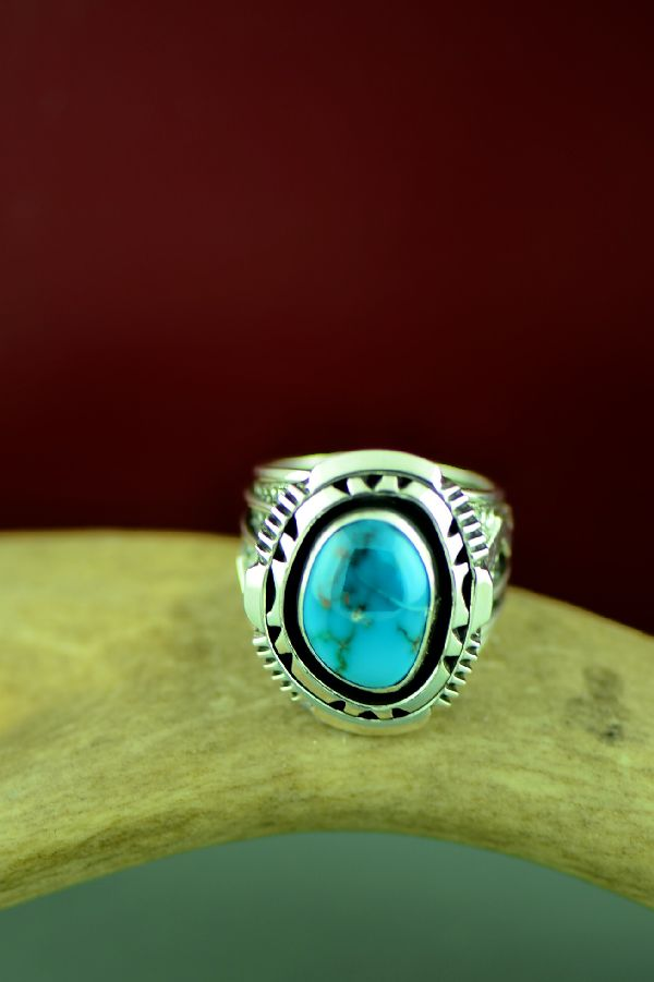 Will Denetdale High Grade Bisbee Turquoise Ring