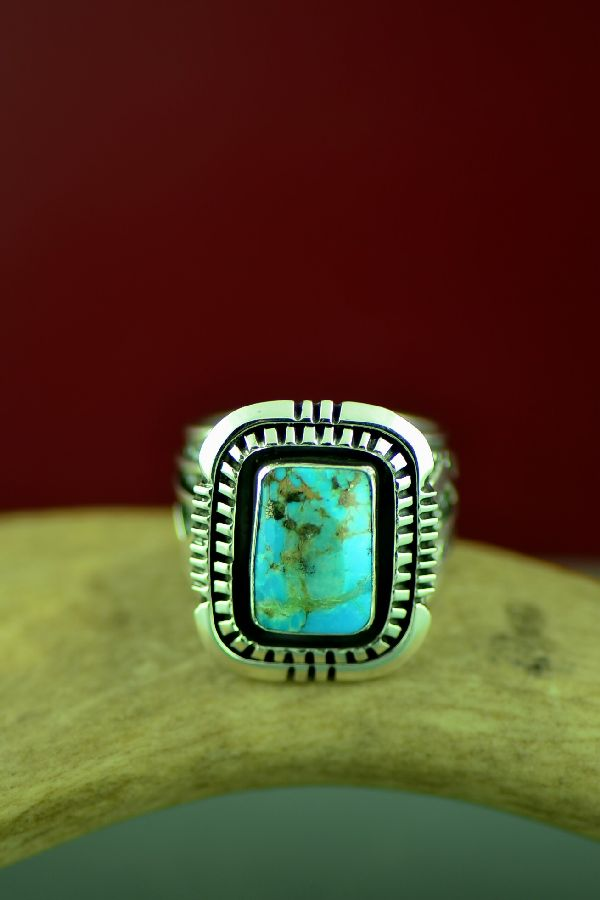 Will Denetdale Size 11 Bisbee Turquoise Ring