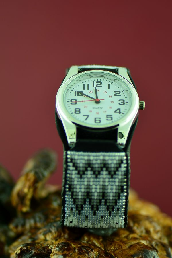 Large Native American Beaded Watch