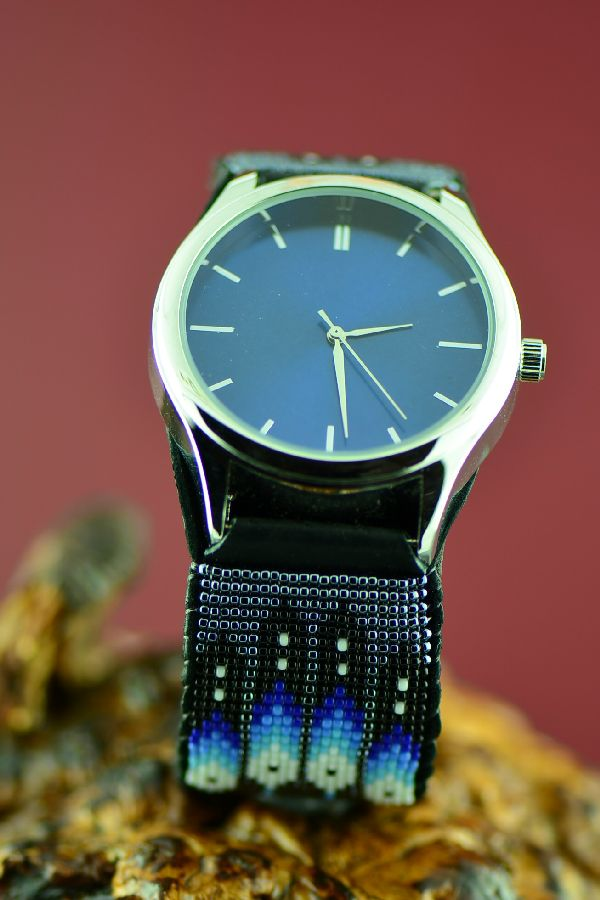 Large Beaded Native American Watch Bracelet