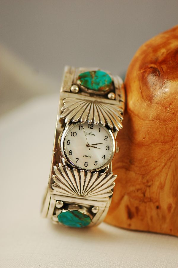 Old Pawn Royston Turquoise Watch Bracelet