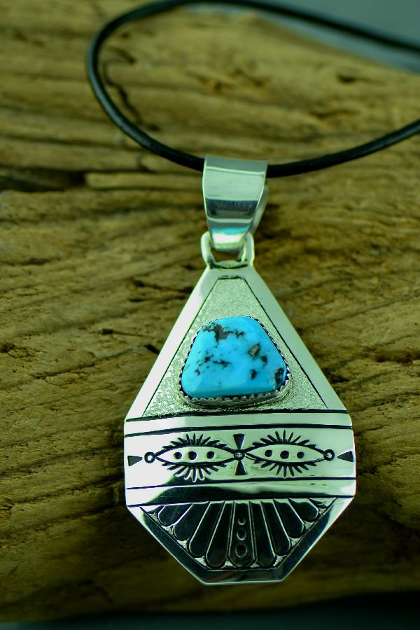 Richard John Sleeping Beauty Turquoise Pendant