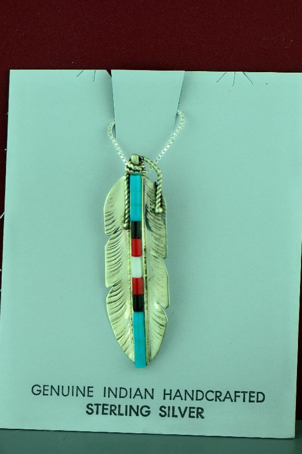 American Indian Feather Necklace