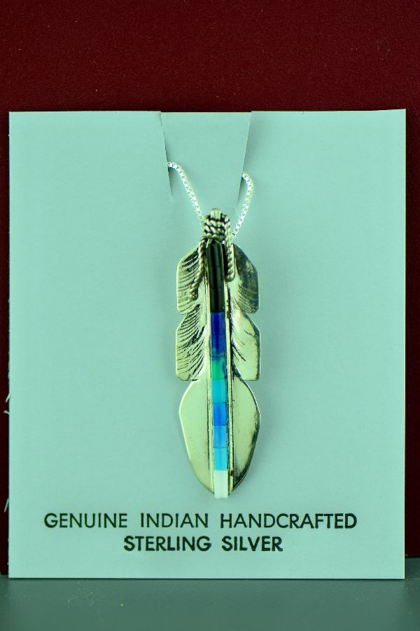 Sterling Silver Navajo Feather Jewelry