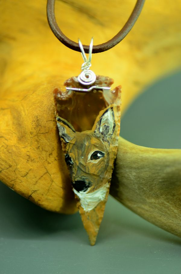 American Indian Deer Arrowhead Pendant