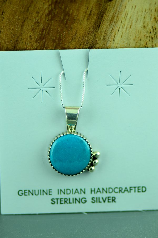 Richard Begay Kingman Turquoise Pendant