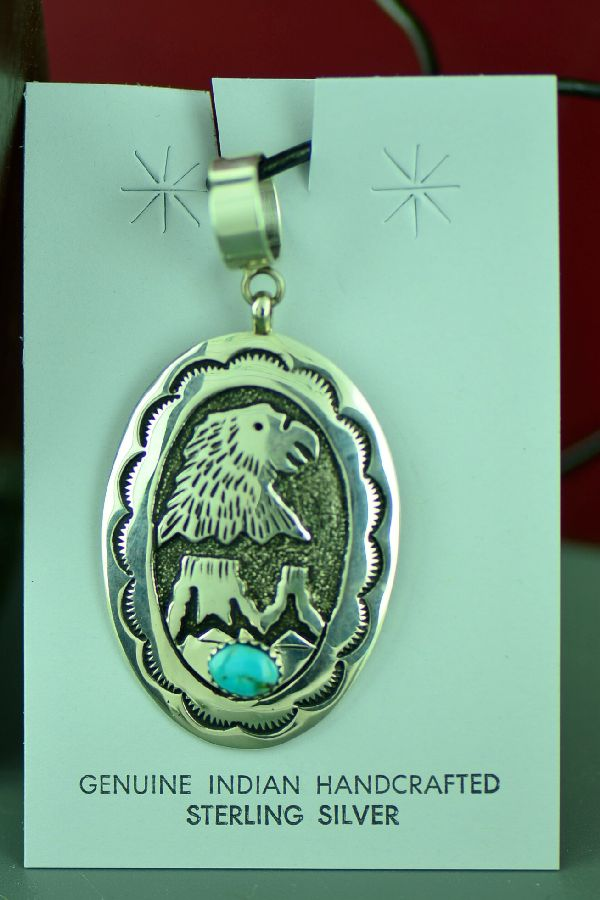 Rosita Singer Eagle and Mountain Pendant
