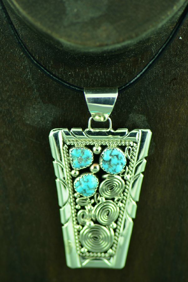 Genevieve Jones Turquoise Pendants