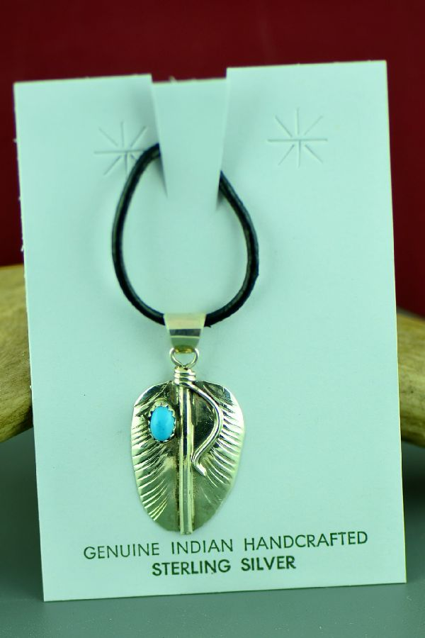 Vivian Jones Turquoise Feather Pendants