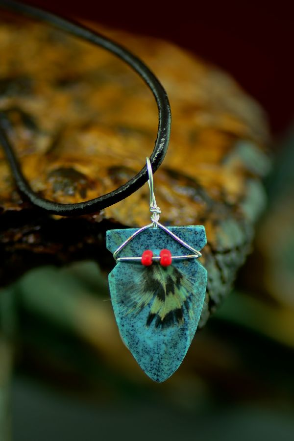 American Indian Turquoise Arrowhead Pendants