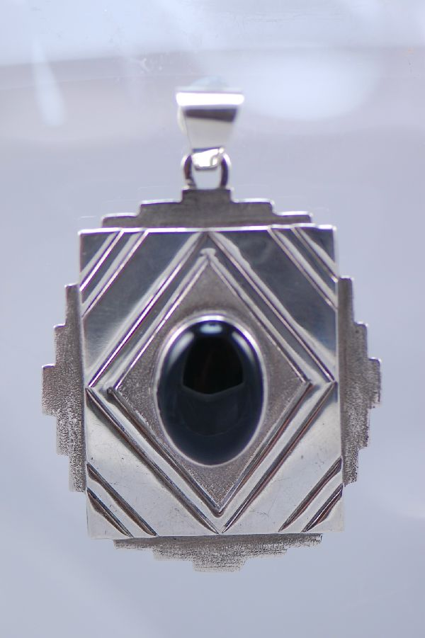 Black Onyx Sterling Silver Pendant