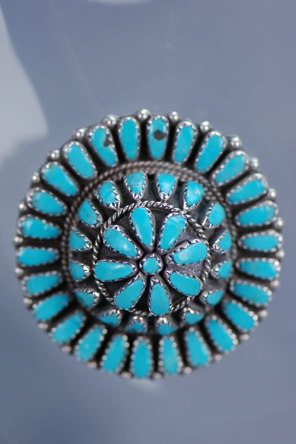 Sleeping Beauty Turquoise Cluster Pin Pendant