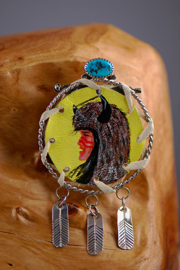 Buffalo Dancer Kachina Pendant