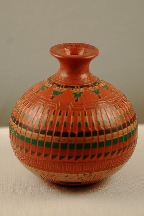 Navajo Etched Pottery Vases