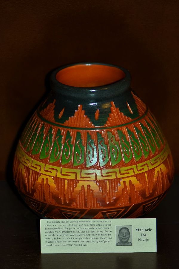 Traditional Navajo Etched Pottery