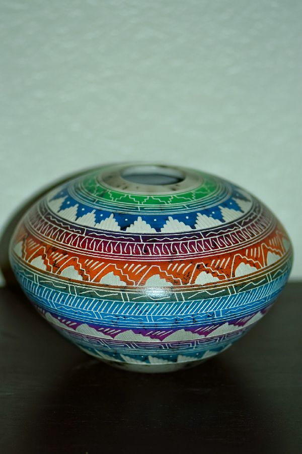 Colorful Navajo Pottery