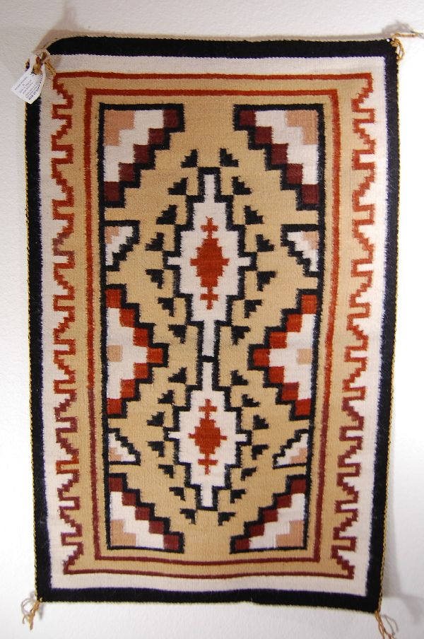 Navajo Two Grey Hills Pattern Rug