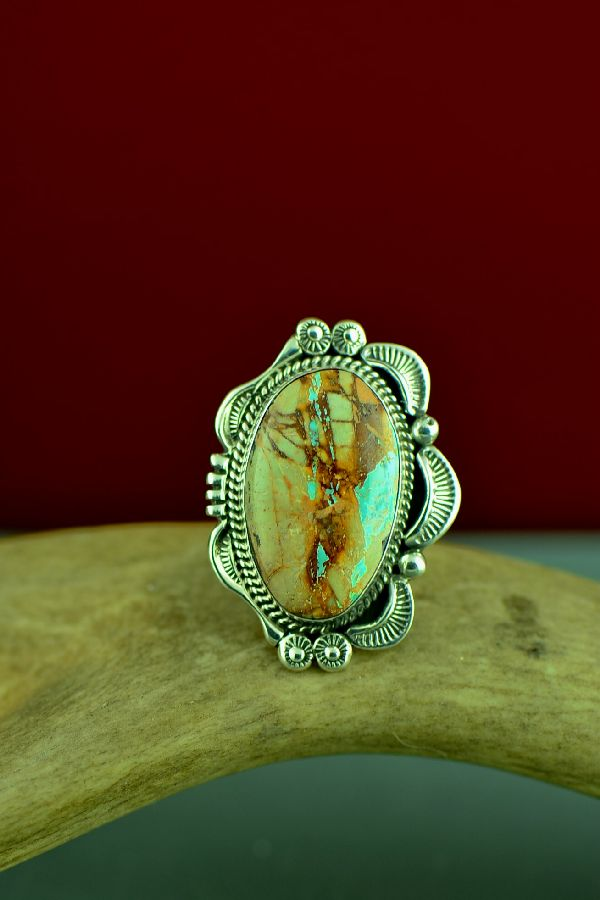 Authentic Blue Ribbon Turquoise Ring Navajo